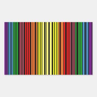 Rainbow pride bar code sticker