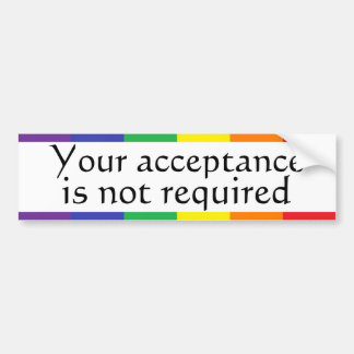 Rainbow Pride Bumper Sticker