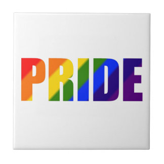 rainbow pride ceramic tile