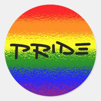 Rainbow Pride Classic Round Sticker