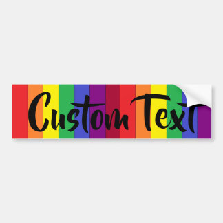 Rainbow Pride CUSTOM bumper sticker