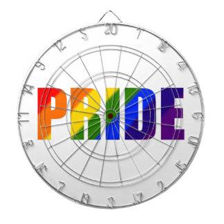 rainbow pride dartboard