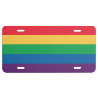 Rainbow Pride Flag License Plate