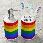 Rainbow Pride Flag Soap Dispenser And Toothbrush Holder