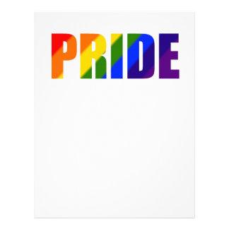 rainbow pride letterhead