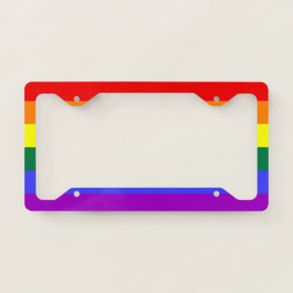 Rainbow Pride LGBT Themed Colourful Fun Licence Plate Frame