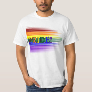 Rainbow Pride! Mens T-shirts (Front)