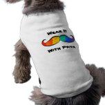 Rainbow Pride Moustache Pet T-shirt