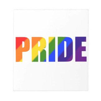 rainbow pride notepad