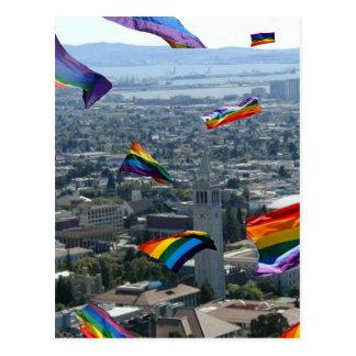 Rainbow Pride Over Berkeley Postcard