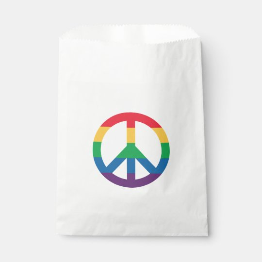 Rainbow Pride Peace Sign Favour Bags
