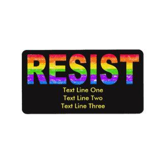 Rainbow Pride Resistance Address Labels