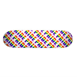 Rainbow Pride Text Art Skateboard Deck