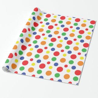 Rainbow Primary Polka Dots Pattern