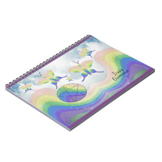 Rainbow Prism Butterfly Pentacle Book of Shadows