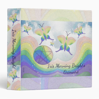 Rainbow Prism Butterfly Pentacle Book of Shadows M 3 Ring Binder