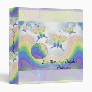 Rainbow Prism Butterfly Pentacle Book of Shadows S Vinyl Binder
