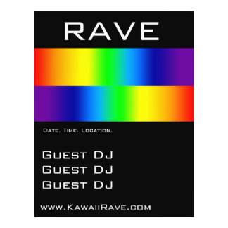 Rainbow Prism Custom Rave Flyers