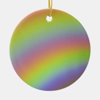 Rainbow Product Round Ceramic Ornament