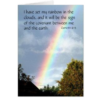 Rainbow promise - Genesis 9 v 13   Greeting Cards