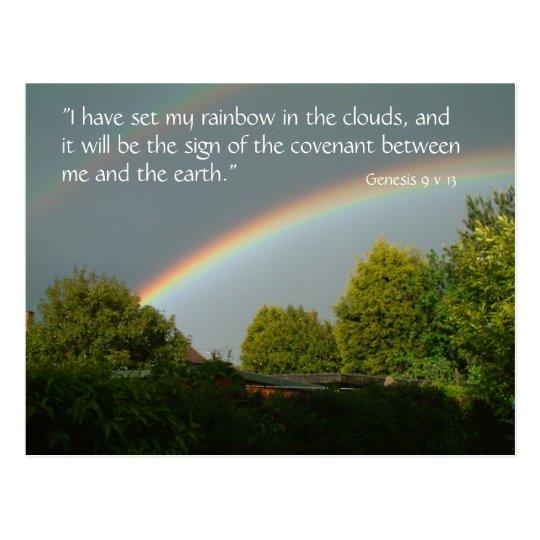 Rainbow Promise, Genesis 9 v 13 | Postcard