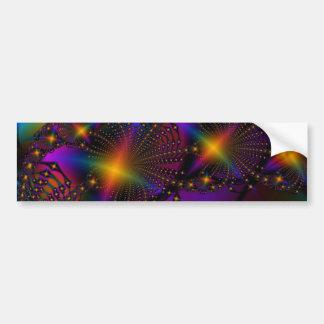 Rainbow Psyched Fractal Bumper Sticker
