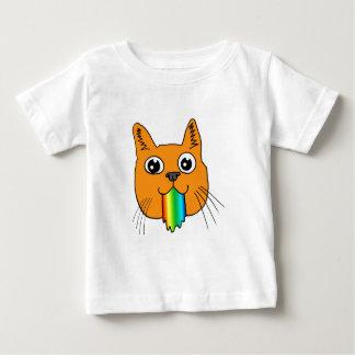 Rainbow Puke Cat Cartoon Hand-drawn Baby T-Shirt