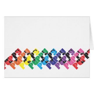 Rainbow Puppy Card