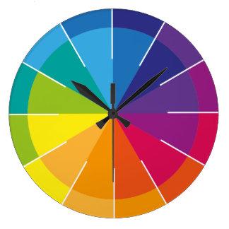 Rainbow Puristic Large Clock