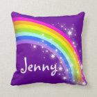 rainbow purple girls name Jenny cushion pillow