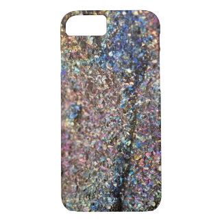 Rainbow Pyrite Crystal Phone Case, Druzy Case