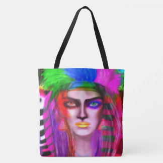 Rainbow Queen of the moon Tote Bag