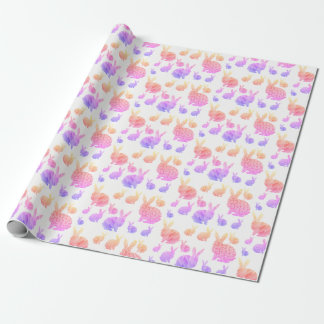 Rainbow Rabbits Wrapping Paper
