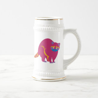 Rainbow Raccoon Beer Stein