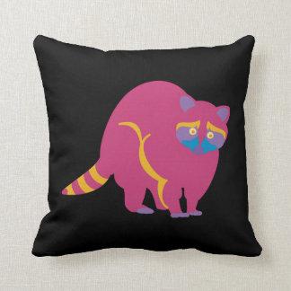 Rainbow Raccoon Throw Pillow