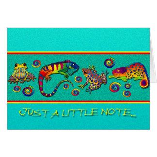 Rainbow Rainforest Note Card