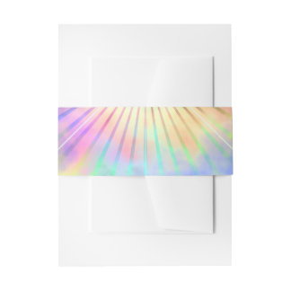 Rainbow Ray Star Burst Horizon Invitation Belly Band