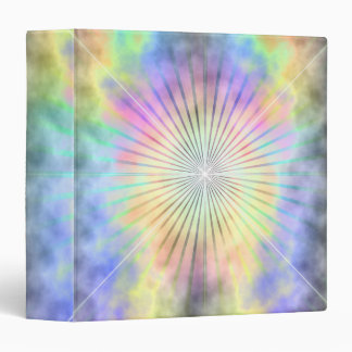 Rainbow Ray Star Burst Horizon Vinyl Binders