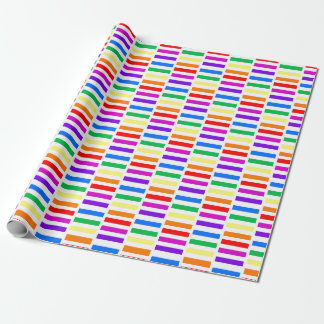 Rainbow Rectangle Pattern Wrapping Paper