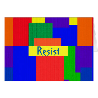 Rainbow Resist Abstract Patchwork Blank Card