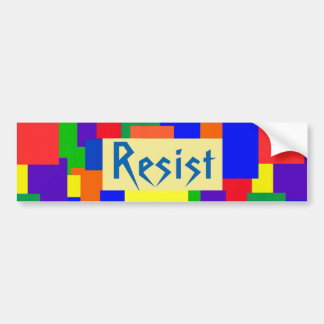 Rainbow Resist Patchwork Pattern Bumper Sticker