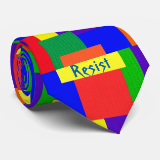 Rainbow Resist Patchwork Quilt Design Tie