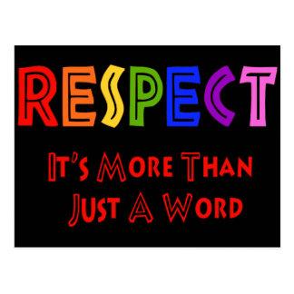 Rainbow Respect Postcard