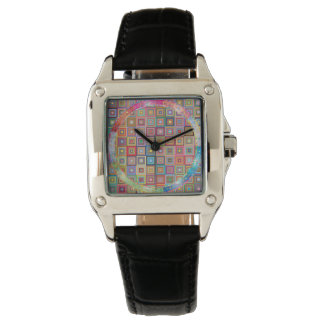 Rainbow retro geometric watch for women
