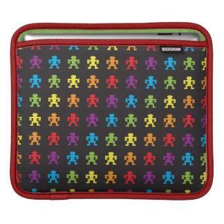 rainbow retro pixel game monkey Ipad sleeve