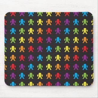 rainbow retro pixel game monkey mousepad