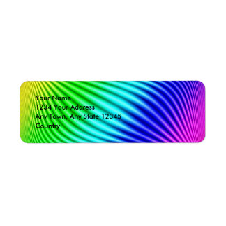 Rainbow Return Address Label