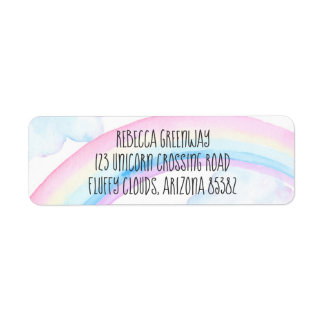 Rainbow Return Address Labels