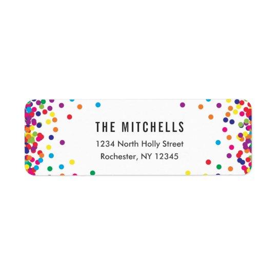 Rainbow Return Address Labels | Birthday Party