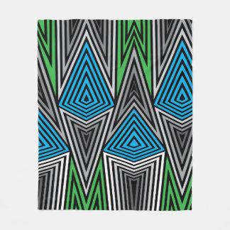 Rainbow Rex Blanket: Retro Fleece Blanket